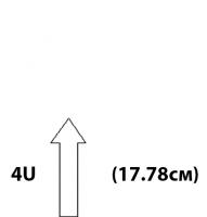 """Настенные антивандальные шкафы 19"""". Высота 4U"""
