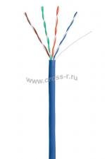Кабель NETLAN U/UTP 4 пары, Кат.5e, 100МГц, одножильный, CCA (омедненный алюминий), внутренний, PVC нг(B), синий, 305м ( CCA-UU004-5E-PVC-BL )