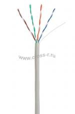 Кабель NETLAN U/UTP 4 пары, Кат.5e (Класс D), 100МГц, одножильный, BC (чистая медь), внутренний, PVC нг(B), серый, 305м ( EC-UU004-5E-PVC-GY )