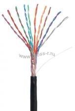 Кабель NETLAN U/UTP 10 пар, Кат.5 (Класс D), 100МГц, одножильный, BC (чистая медь), внешний, PE до -40C, черный, 305м ( EC-UU010-5-PE-BK-3 )