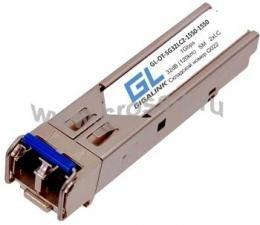 Модуль GIGALINK SFP, 1Гбит/c, два волокна SM, 2xLC, 1550 нм, 32 дБ (до 120 км) (GL-16GT) ( GL-OT-SG32LC2-1550-1550 )