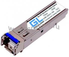 Модуль GIGALINK SFP, WDM, 1Гбит/c, одно волокно SM, LC, Tx:1310/Rx:1550 нм, 14 дБ, DDM (до 20 км) ( GL-OT-SG14LC1-1310-1550-D )