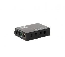 Конвертер GIGALINK из UTP, 100Мбит/c в WDM, без LFP, SM, SC, Tx:1550/Rx:1310, 18 дБ (до 20 км), rev2 ( GL-MC-UTPF-SC1F-18SM-1550-N.r2 )
