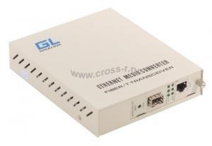 Конвертер управляемый GIGALINK, UTP-SFP, 10/100/1000 Мбит/c ( GL-MC-UTPG-SFPG-FM )