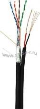 Кабель NETLAN F/UTP 4 пары, Кат.5e (Класс D), 100МГц, одножильный, BC (чистая медь), с многожильным силовым кабелем 0,35мм2, внешний, PE до -40C, черный, 305м ( EC-UF004-5E-PC035-PE-BK )