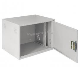 Настенный антивандальный шкаф, 9U, Ш600хВ470хГ450мм, серый ( EC-WS-096045-GY )