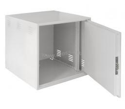 Настенный антивандальный шкаф сейфового типа, 12U, Ш600хВ600хГ600мм, серый ( EC-WS-126060-GY )