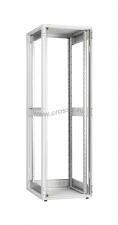 """Напольный шкаф серии Lite 19"""", 42U, стеклянная дверь, Ш600хВ1967хГ800мм, в разобранном виде, серый ( TFI-426080-GMMM-GY )"""
