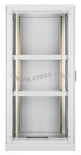 """Напольный шкаф 19"""", 24U, металлическая дверь, Ш600хВ1280хГ600мм, в разобранном виде, серый ( TFL-246060-MMMM-GY )"""