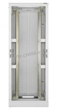 """Напольный шкаф 19"""", 33U, стеклянная дверь, Ш600хВ1680хГ800мм, в разобранном виде, серый ( TFL-336080-GMMM-GY )"""