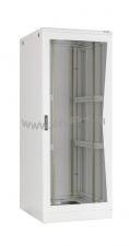 """Напольный шкаф 19"""", 42U, стеклянная дверь, Ш600хВ2080хГ800мм, в разобранном виде, серый ( TFL-426080-GMMM-GY )"""
