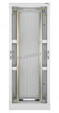 """Напольный шкаф 19"""", 47U, стеклянная дверь, Ш600хВ2302хГ800мм, в разобранном виде, серый ( TFL-476080-GMMM-GY )"""