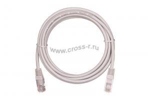 Коммутационный шнур NETLAN U/UTP 4 пары, Кат.5е (Класс D), 100МГц, 2хRJ45/8P8C, T568B, заливной, многожильный, BC (чистая медь), LSZH нг(B)-HF, серый, уп-ка 10шт. ( EC-PC4UD55B-BC-LSZH-005-GY-10 )