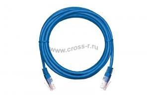 Коммутационный шнур NETLAN U/UTP 4 пары, Кат.5е (Класс D), 100МГц, 2хRJ45/8P8C, T568B, заливной, многожильный, BC (чистая медь), PVC нг(B), синий,  уп-ка 10шт. ( EC-PC4UD55B-BC-PVC-005-BL-10 )