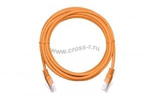 Коммутационный шнур NETLAN U/UTP 4 пары, Кат.5е (Класс D), 100МГц, 2хRJ45/8P8C, T568B, заливной, многожильный, BC (чистая медь), PVC нг(B), оранжевый,  уп-ка 10шт. ( EC-PC4UD55B-BC-PVC-005-OR-10 )