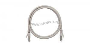 Коммутационный шнур NIKOMAX F/UTP 4 пары, Кат.5е (Класс D), 100МГц, 2хRJ45/8P8C, T568B, заливной, с защитой защелки, многожильный, BC (чистая медь), 26AWG (7х0,165мм), LSZH нг(А)-HFLTx, серый ( NMC-PC4SD55B-003-C-GY )