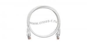 Коммутационный шнур NIKOMAX U/UTP 4 пары, Кат.5е (Класс D), 100МГц, 2хRJ45/8P8C, T568B, заливной, с защитой защелки, многожильный, BC (чистая медь), 24AWG (7х0,205мм), LSZH нг(А)-HFLTx, белый ( NMC-PC4UD55B-003-C-WT )