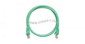 Коммутационный шнур NIKOMAX U/UTP 4 пары, Кат.5е (Класс D), 100МГц, 2хRJ45/8P8C, T568B, заливной, с защитой защелки, многожильный, BC (чистая медь), 24AWG (7х0,205мм), PVC нг(А), зеленый, 0,3м ( NMC-PC4UD55B-003-G )  ( NMC-PC4UD55B-003-GN )