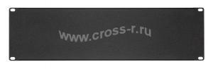 Заглушка кабельного ввода TLK, 300х76х1мм, черная ( TLK-BLNK-CAB-M-BK )