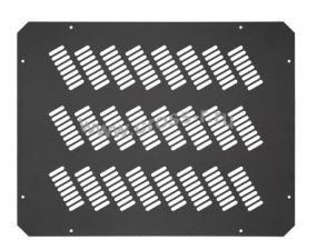 Заглушка проема вентиляторного блока TLK, перфорированная, 490х 380х1мм, черная ( TLK-BLNK-FAN-P-BK )