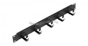 """Кабельный органайзер NIKOMAX 19"""""""", 1U, глубина колец 40мм, металлический, черный, уп-ка 2шт. ( NMC-OK400-2 )"""