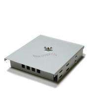 Кросс оптический настенный под 4 порта SC/LC Micro (пустой) (сплошная планка, кассета, монтажный комплект) ( КРН-4LC NULL Micro )