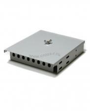 Кросс оптический настенный под 8 портов FC/ST Micro (пустой) (сплошная планка, кассета, монтажный комплект) ( КРН-8FC NULL Micro )