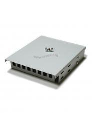 Кросс оптический настенный под 8 портов SC/LC Micro (пустой) (сплошная планка, кассета, монтажный комплект) ( КРН-8SC NULL Micro )