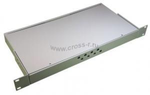 Кросс оптический стоечный 1U под 8 портов FC/ST (пустой) (сплошная планка, монтажный комплект) ( КРС-8FC-1U NULL спл. пл. )