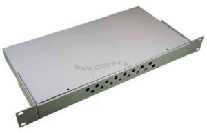 Кросс оптический стоечный 1U под 16 портов FC/ST (пустой) (сплошная планка, монтажный комплект) ( КРС-16FC-1U NULL спл. пл. )