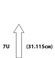 """Настенные антивандальные шкафы 19"""". Высота 7U"""