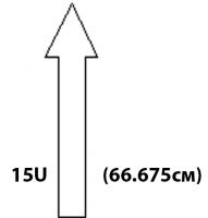 """Настенные антивандальные шкафы 19"""". Высота 15U"""