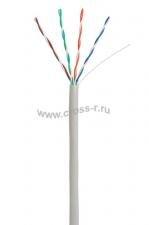 Кабель NETLAN U/UTP 4 пары, Кат.5e, 100МГц, одножильный, CCA (омедненный алюминий), внутренний, PVC нг(B), серый, 305м ( CCA-UU004-5E-PVC-GY )
