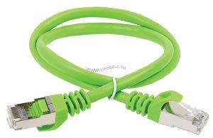 Коммутационный шнур ITK кат. 6А S/FTP LSZH 15м зеленый ( PC02-C6ASL-15M )
