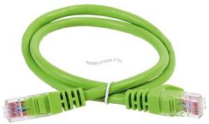 Коммутационный шнур ITK кат. 6А UTP LSZH 15м зеленый ( PC02-C6AUL-15M )