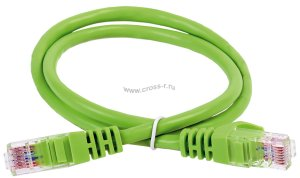 Коммутационный шнур ITK кат. 6А UTP LSZH 10м зеленый ( PC02-C6AUL-10M )
