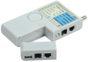 Тестер для витой пары ITK 4в1 RJ45/RJ11/BNC/USB с элем. пит. ( WH3468 )