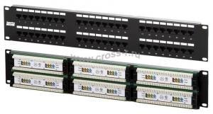 Hyperline PP2-19-48-8P8C-C5e-110D Патч-панель 19'', 48 портов RJ-45, категория 5e, Dual IDC