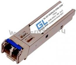 Модуль GIGALINK SFP, 1Гбит/c, два волокна SM, 2xLC, 1550 нм, 24 дБ (до 80 км) (GL-15GT) ( GL-OT-SG24LC2-1550-1550 )