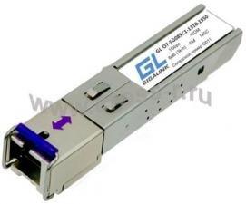 Модуль GIGALINK SFP, WDM, 155Mb/1.25Гбит/c, одно волокно SM, SC, Tx:1550/Rx:1310 нм, DDM, 8 дБ (до 3 км) ( GL-OT-SG08SC1-1550-1310-D )