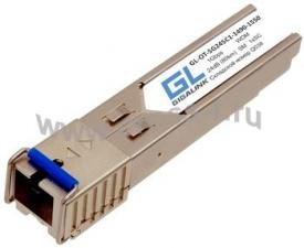 Модуль GIGALINK SFP, WDM, 1Гбит/c, одно волокно SM, SC, Tx:1550/Rx:1490 нм, 24 дБ (до 80 км) (GL-3080R) ( GL-OT-SG24SC1-1550-1490 )