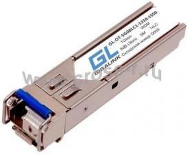 Модуль GIGALINK SFP, WDM, 1Гбит/c, одно волокно SM, LC, Tx:1310/Rx:1550 нм, DDM, 8 дБ (до 3 км) ( GL-OT-SG08LC1-1310-1550-D )