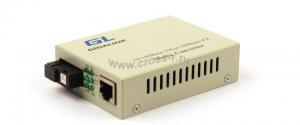 Конвертер GIGALINK из UTP, 100Мбит/c в WDM, LFP, SM, SC, Tx:1310/Rx:1550, 18 дБ (до 20 км) (GL-F920T) ( GL-MC-UTPF-SC1F-18SM-1310 )