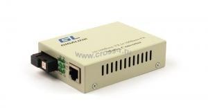Конвертер GIGALINK из UTP, 100Мбит/c в WDM, LFP, SM, SC, Tx:1550/Rx:1310, 18 дБ (до 20 км) (GL-F920R) ( GL-MC-UTPF-SC1F-18SM-1550 )