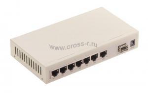 Коммутатор GIGALINK, управляемый, 7 портов  100Мб/с, 1 порт SFP 100 Мбит/с ( GL-SW-F011-07S )