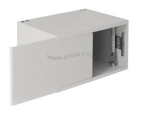 Настенный антивандальный шкаф пенального типа, 7U, Ш520хВ320хГ400мм, OEM, серый ( EC-WP-075240-GY )