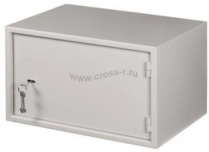 Настенный антивандальный шкаф с дверью на петлях, 7U, Ш520хВ320хГ400мм, серый ( EC-WS-075240-GY )