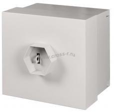 Настенный антивандальный шкаф, 9U, Ш562хВ556хГ506мм, с замком ВС4 Арико, серый,  (ШТА-9-298) ( EC-WS-095650-GY )