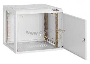 """Настенный шкаф 19"""", 6U, металическая дверь, Ш530хВ333хГ500мм, цельносварной, серый ( TWC-065350-M-W-GY )"""