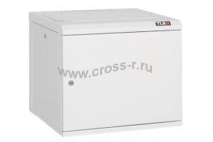 """Настенный шкаф 19"""", 9U, металлическая дверь, Ш530хВ466хГ500мм, цельносварной, серый ( TWC-095350-M-W-GY )"""